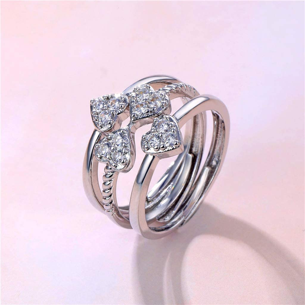 Love Heart Four-Leaf Clover 3 in 1 Ring