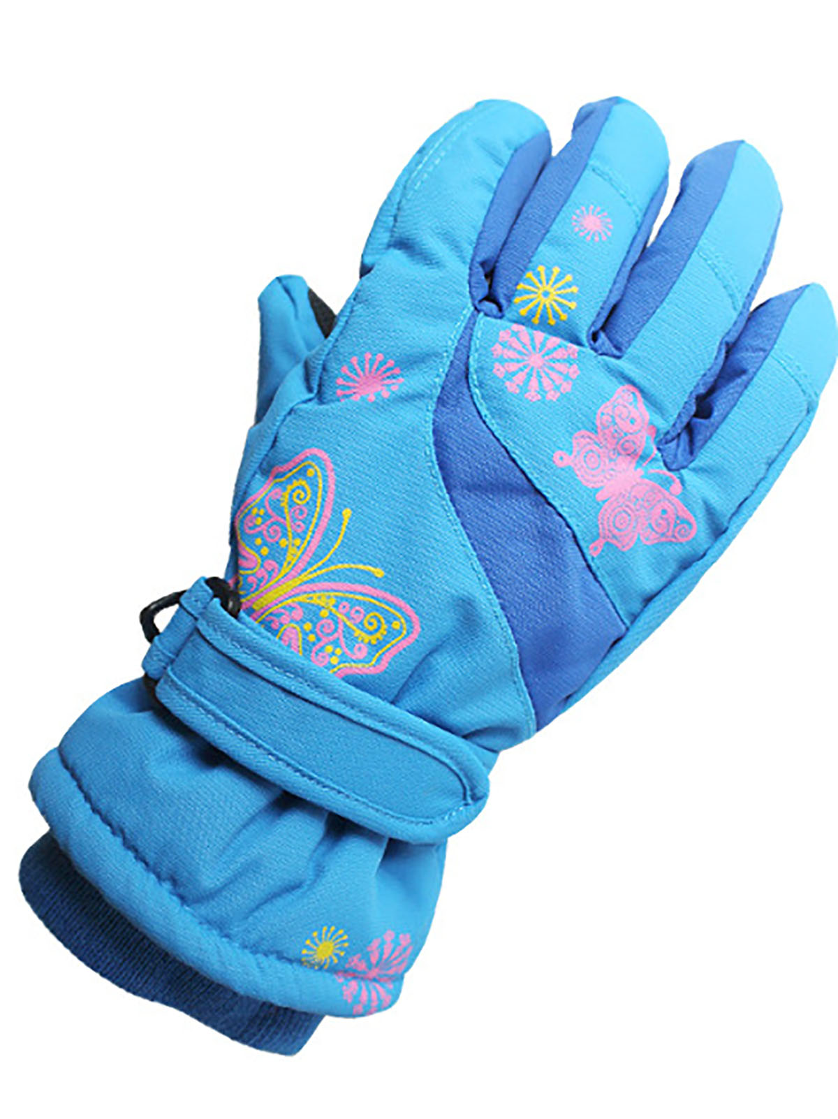 Outdoor ski warm and cold protection gloves for children aged 4-10
