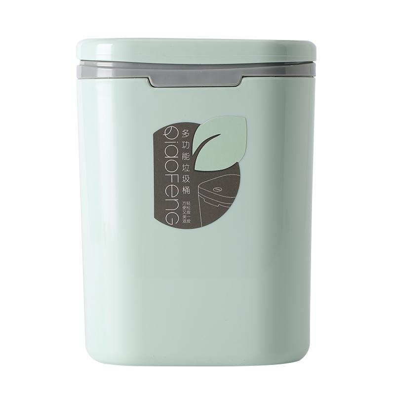 factory new design square stationary storage bucket Table Top Waste bin Acrylic plastic desktop trash can-1.20