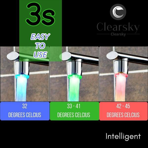 (Limited Buy 3 Get 1 Free!)Environmentally Friendly RGB Intelligent LED Faucet-Buy more Save more!!!