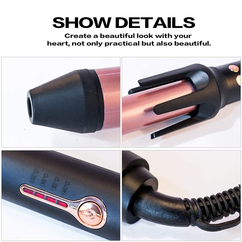 Hair Curlers Automatic Curling Iron Hair Styling Ceramic Professional Roller Rotating Curl Iron Curling Wand (Black & White)