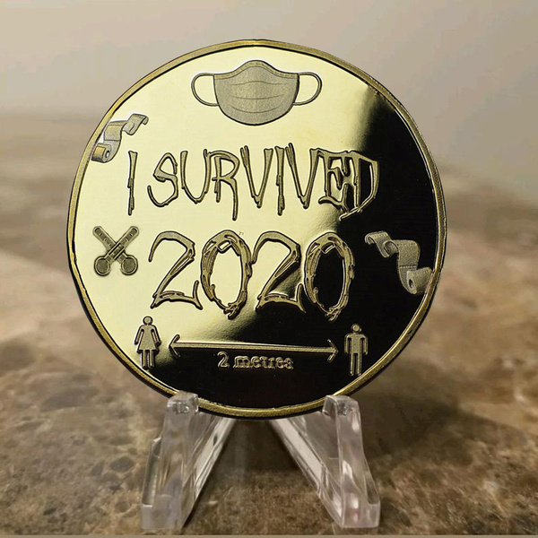 🔥ONLY $6.98 The Last Day🔥'I SURVIVED 2020' 999 Silver Commemoratives
