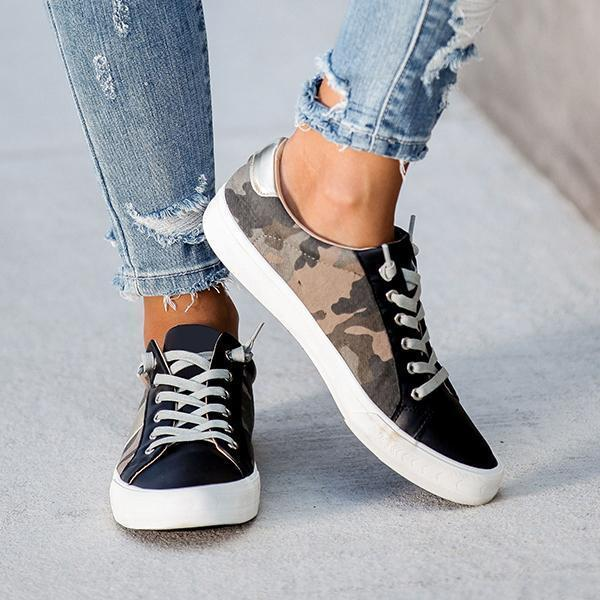 Zoeyootd Summit Fsux Leather Camo Sneakers