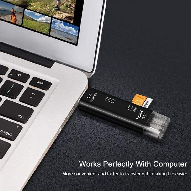 5In1 Usb Card Reader High Speed SD TF / Micro SD Card Reader Type C USB C Micro USB Memory OTG for PC Tab Tablet