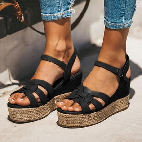 Bonnieshoes Summer Wedge Heel Daily Sandals
