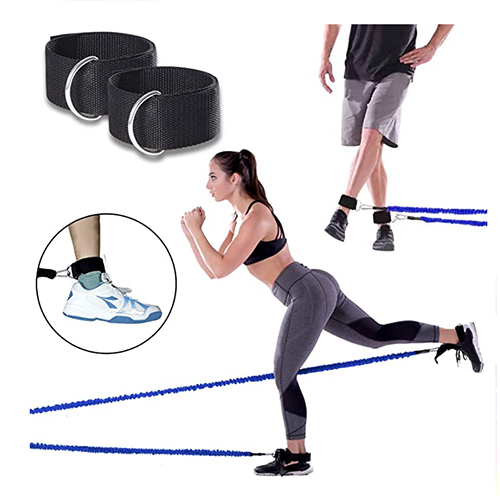 (100 pounds) Upgraded Resistance Bands Set with Protective Nylon Sleeves