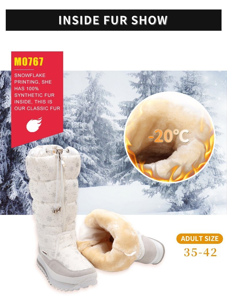Women 2019 Winter Plus Thickening Wool Fur Warm Snow Boots