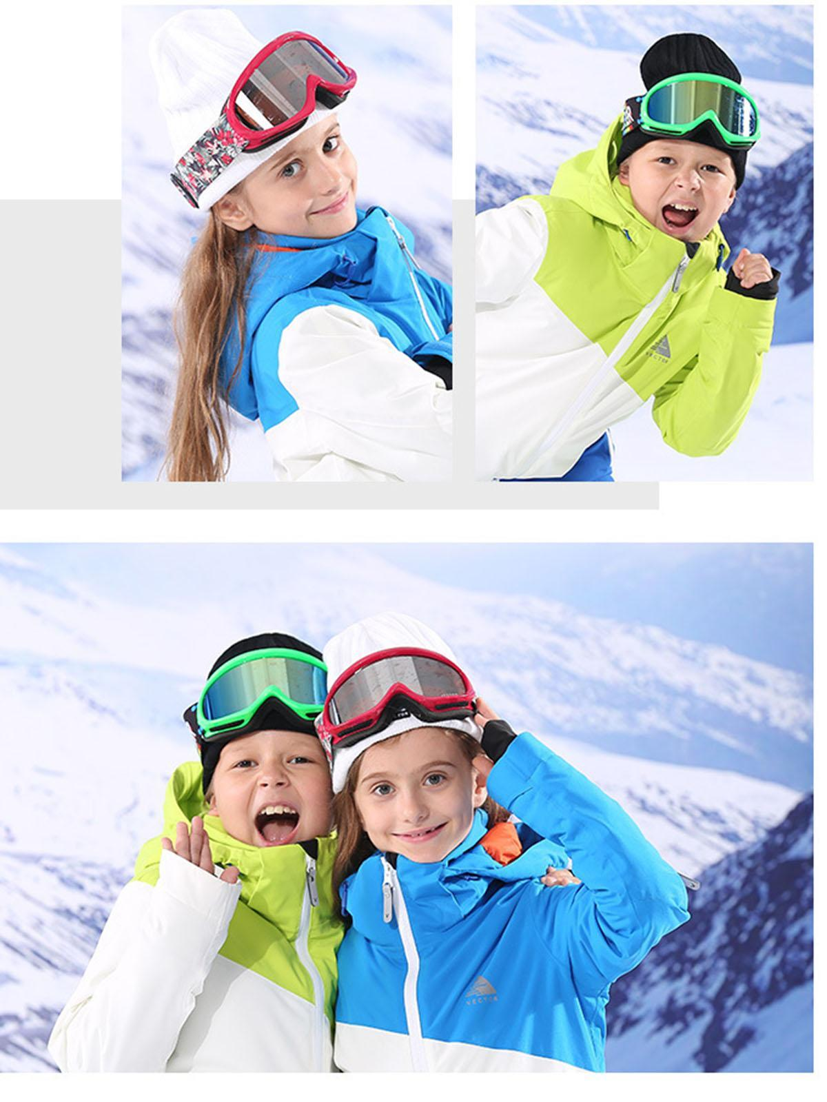 Protective windshield children's outdoor ski goggles