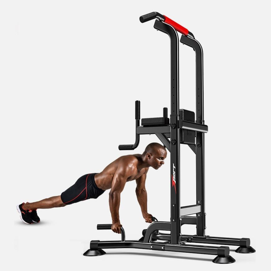 Power Tower Dip Station Pull Up Bar Home Gym Strength Training Workout Equipment, 330Lbs