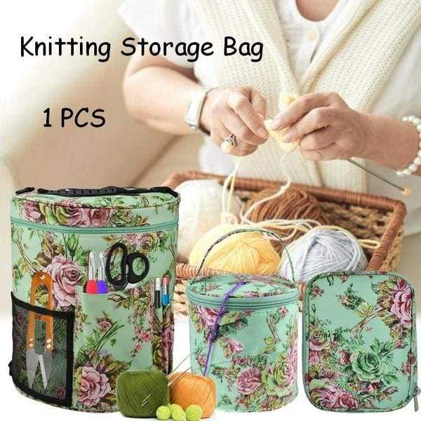 Knitting Bag Portable Light Yarn Storage Bags Crocheting Project Storage Organizer