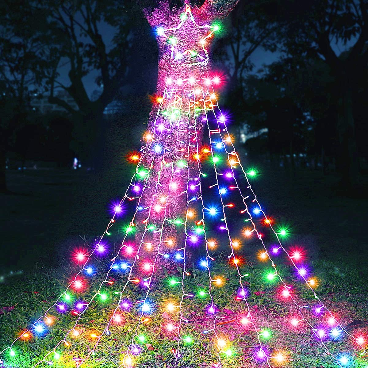 Outdoor Decorations 335 LED Star Lights