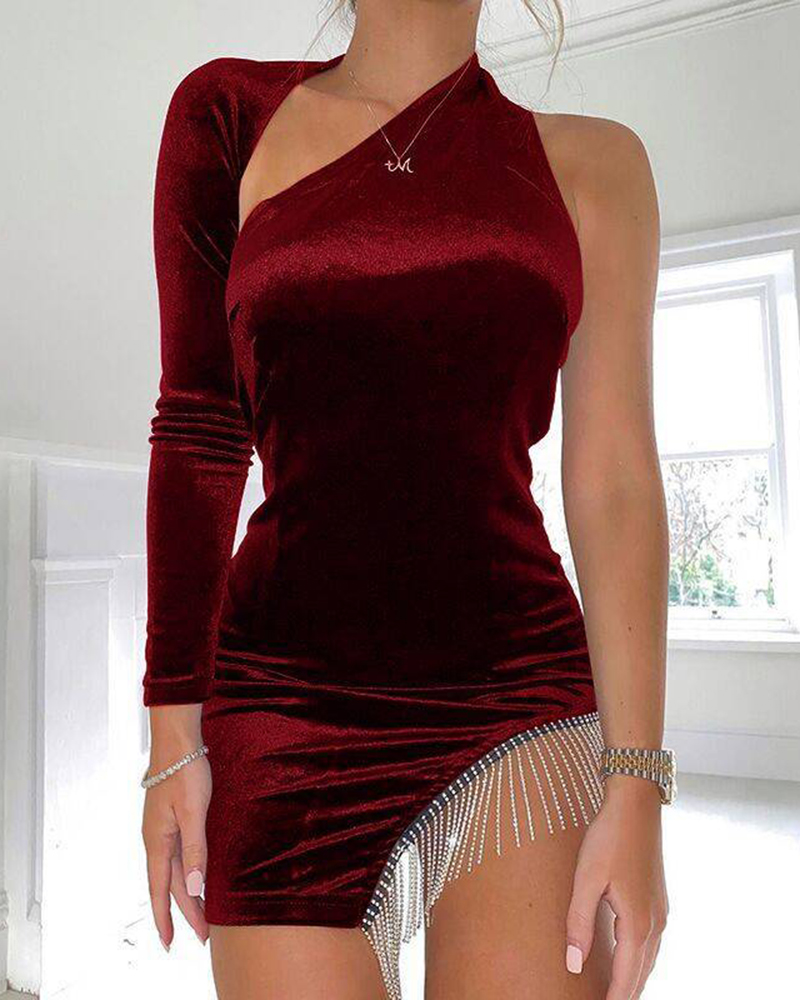 Pure Color Backless Mini Casual Party Dress