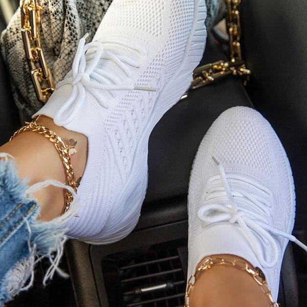 Bonnieshoes Slip-On Lace-Up ClosureLightly Padded Insole Sneakers