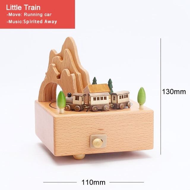 CAPRICE Handmade Wooden Rotating Music Boxes