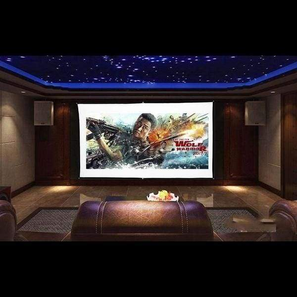 OWILL Projector Screen 60/70/84/100/120150 Inch Portable Projection Screen 16:9 HD 4K Foldable for Home Theater Cinema Indoor Outdoor Front and Rear Projection