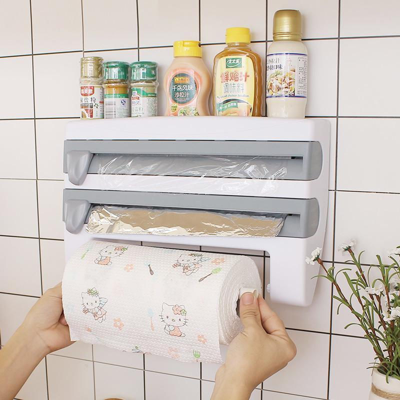 Paper Towel Holder Wall Mount For Kitchen Hanging Rack
