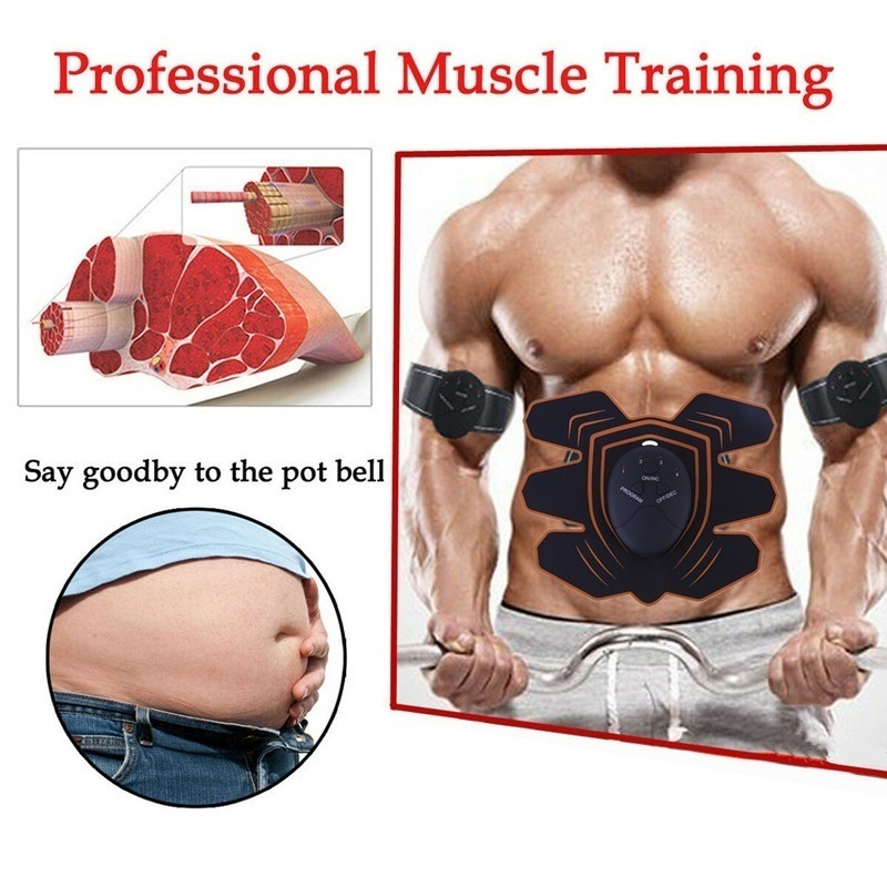 EMS Muscle Training Gear Fitness Electrical Body Shape Home Trainer ABS Abdomen Arm Muscle Stimulator Training Belt Massager
