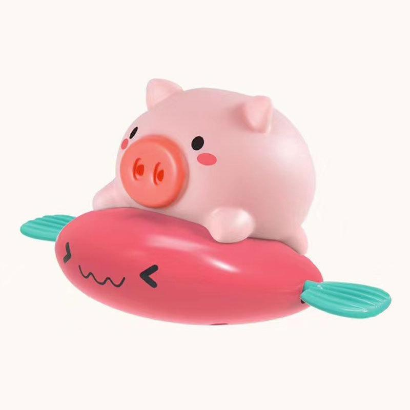 Cute Pig Bath Toy Floating Squirts Pool Toys for Toddlers Kids