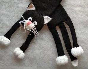 Weave Knitted Cat Scarf