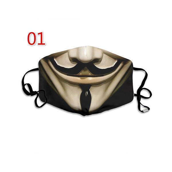 Mokoshoes Hot Sale Holy Halloween Horror Mouth Mask