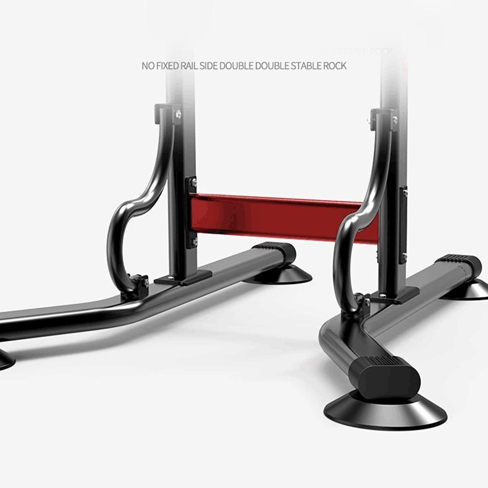 Power Tower Pull Up Dip Station Home Gym Adjustable Height Strength Training Workout Equipment