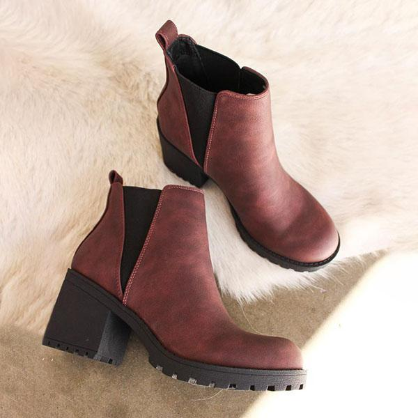 Upawear Patent Leather Slip-On Ankle Boots