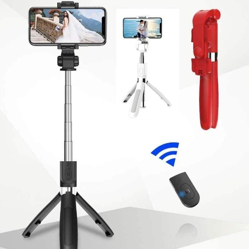 3-in-1 Bluetooth remote control Selfie Stick Extendable Tripod Selfie Stick Mini travel selfie