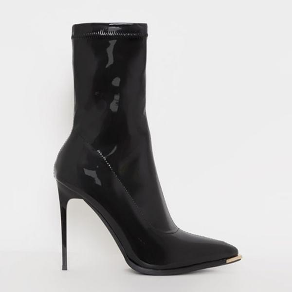 Zoeyootd Sexy Bright Leather Party High Heel Boots