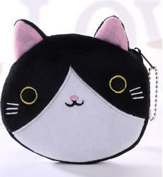 Children Coin Pouch Bag Cat Print Mini Bags Plush Cotton Cute Princess Purse Kids Gift