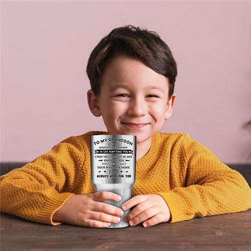 To My GrandSon - Enjoy The Ride - Stainless Tumbler