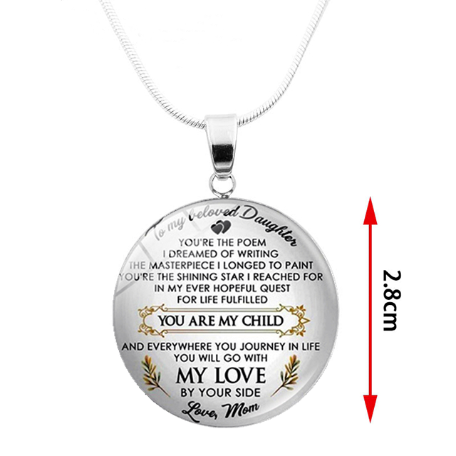 TO MY DAUGHTER - MY LOVE BY YOUR SIDE NECKLACE
