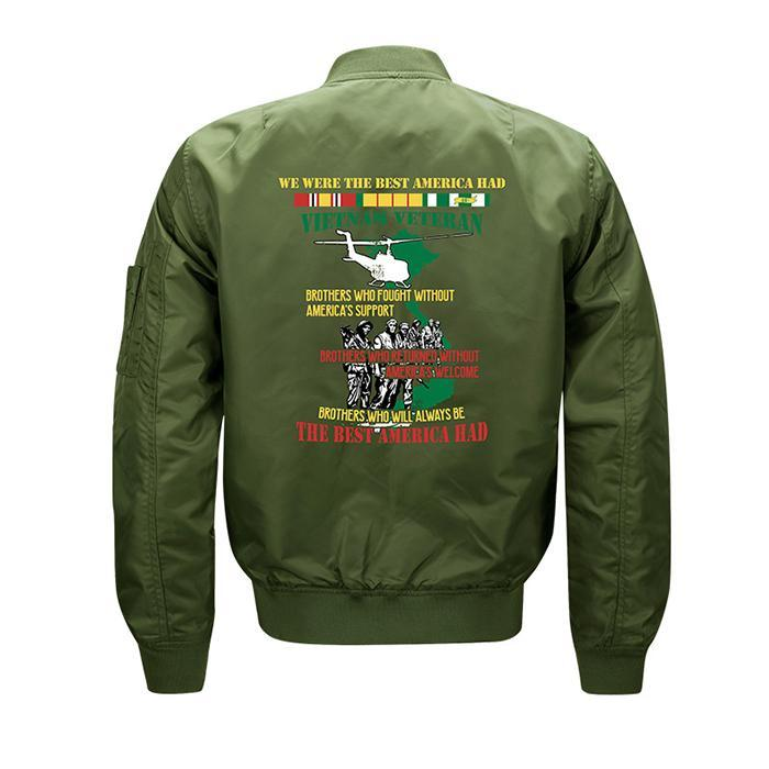 Max To 8XL Battle Embroidery Thin Pilot Jacket