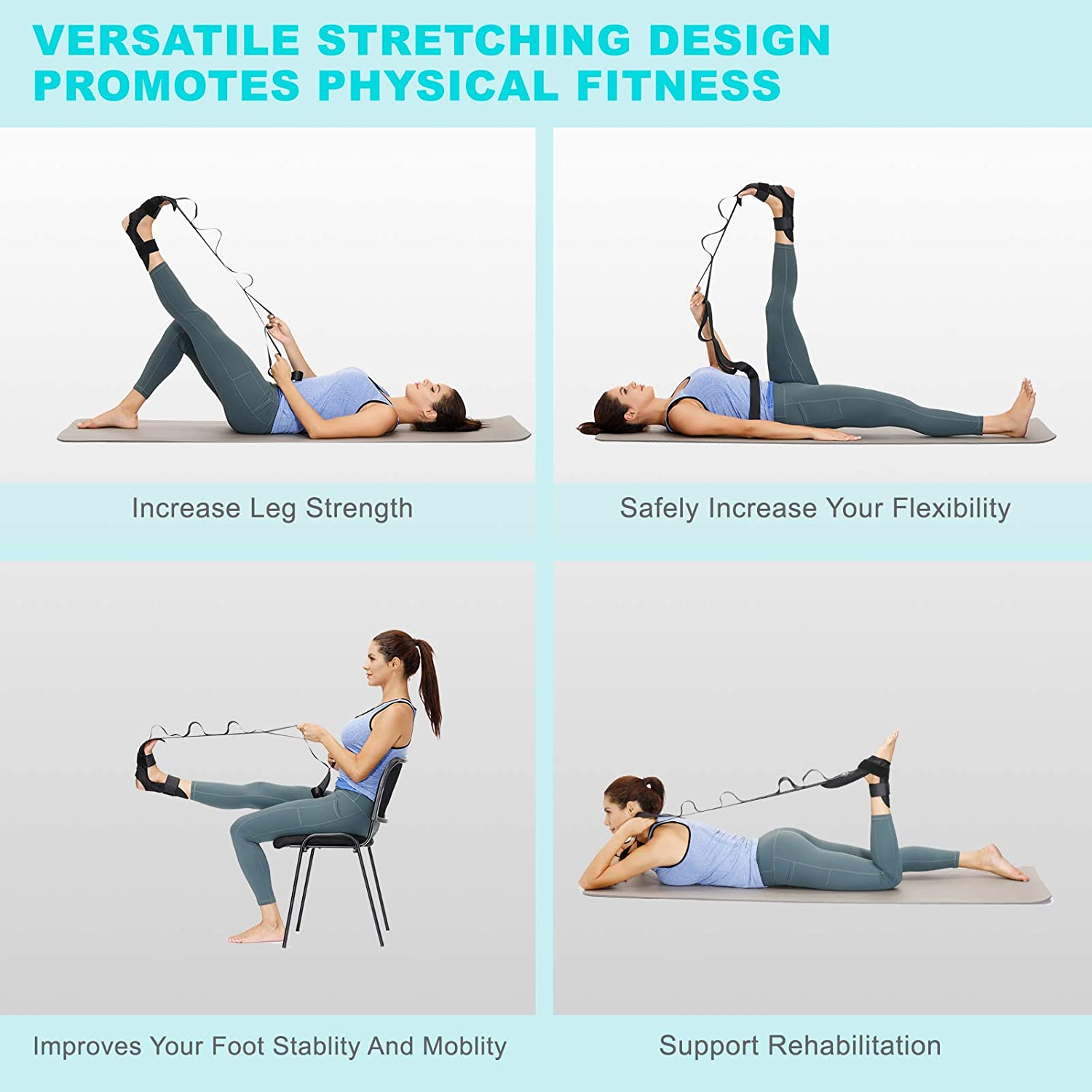 Ligament Stretching Belt - Safely Stretching Rehabilitation Training Strap