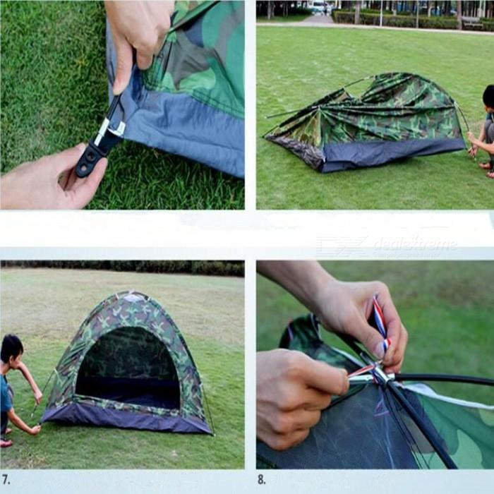 Single Layer Outdoor Waterproof Camouflage Tent Tour Tent - Camouflage