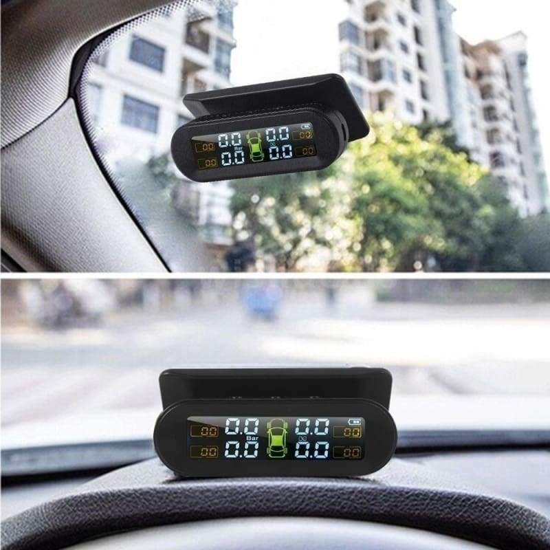 New Wireless Real-time Solar External Tire Pressure Monitor With 4 External Sensors  LCD Color Screen Black and White Screen Optional