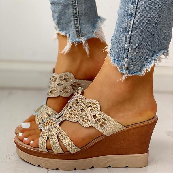 Mokoshoes Platform Wedge Casual Sandals