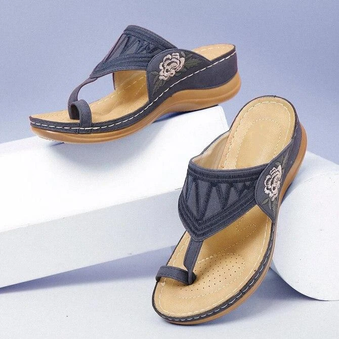 🎉BUY MORE SAVE MORE🎉Embroidery Orthopedic Comfy Flip Flop Sandals
