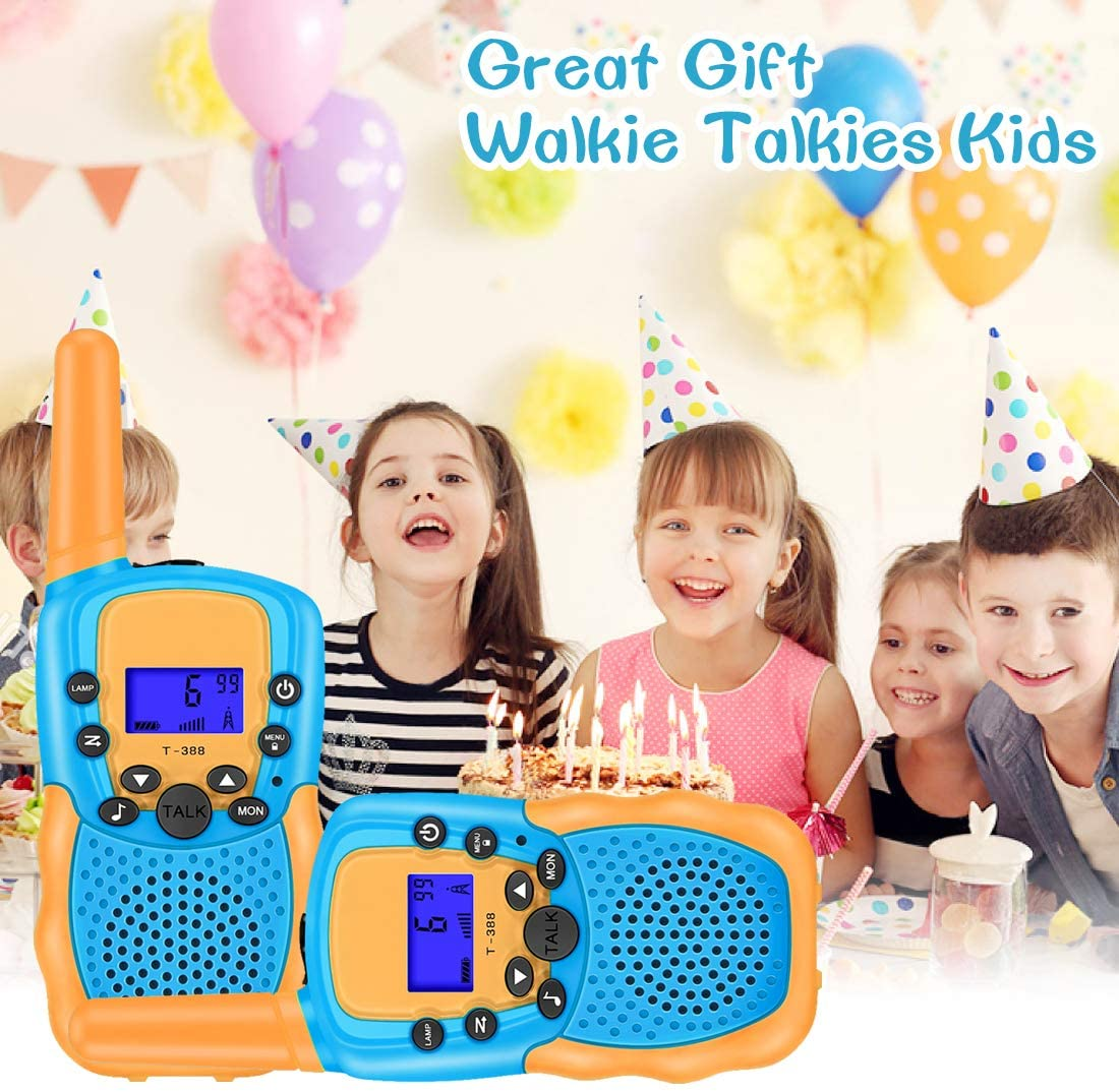 Walkie Talkies for 3-12 Year Old Kids, 22 Channels 2 Way Radio Toy with Backlit LCD Flashlight, 3 Miles Range for Outside, Camping, Hiking