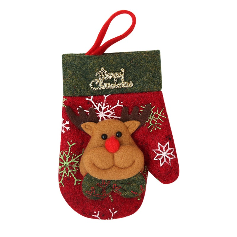 1pc Christmas Cute Cutter and Fork Bags Tableware Cutlery Holder Gift Bags