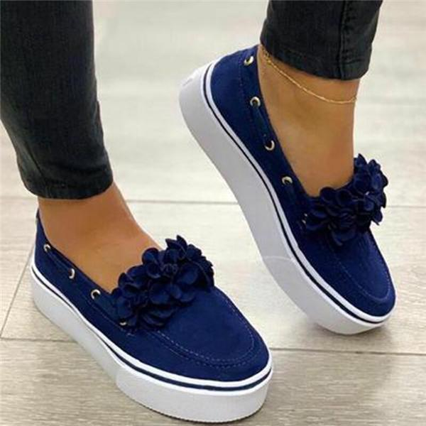 Upawear Spring Women Flats Shoes Platform Sneakers