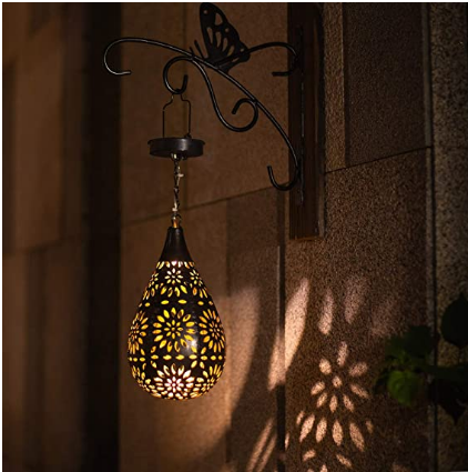 Solar Hollow Iron Projection Lamp Led