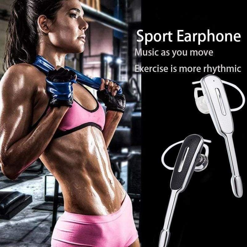 Wireless Bluetooth Earphone Earloop Handsfree Business Sports Headset Stereo Auriculares With Mic For Android For IOS Phones