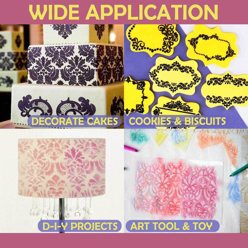 DIY Cake Lace Decoration Mould (Set of 8)
