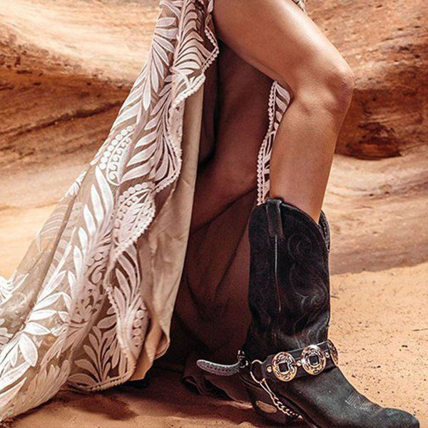 Cool Black Western Cowgirl Boots