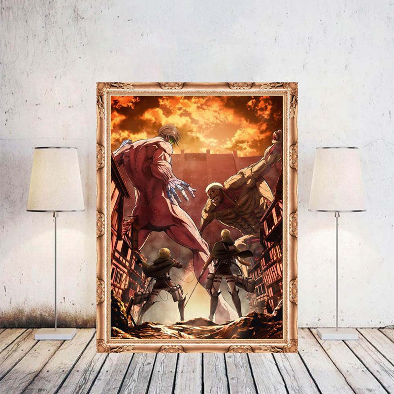 11 Styles Hot Anime Attack On Titan Wall Poster Anime Character Picture Home Decor Cosplay