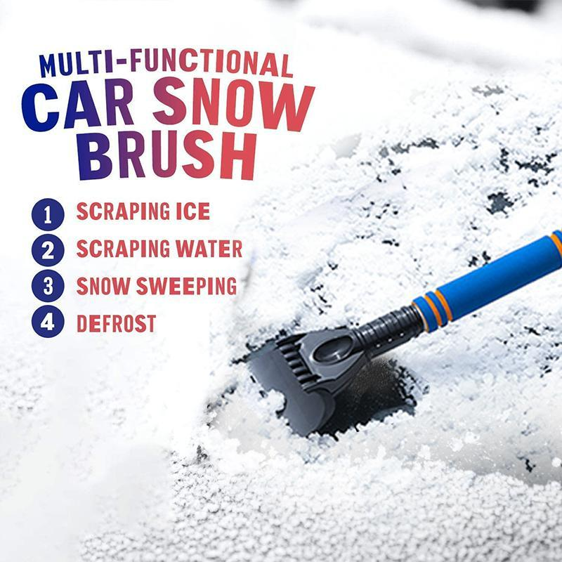 Multifunctional retractable snow removal shoveling, defrosting, deicing and snow scraping