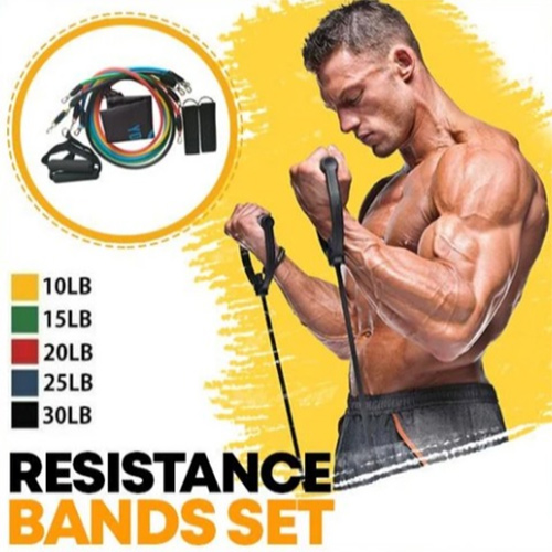 (100 pounds) Upgraded 11-piece Resistance Bands,Workout Band with Handles