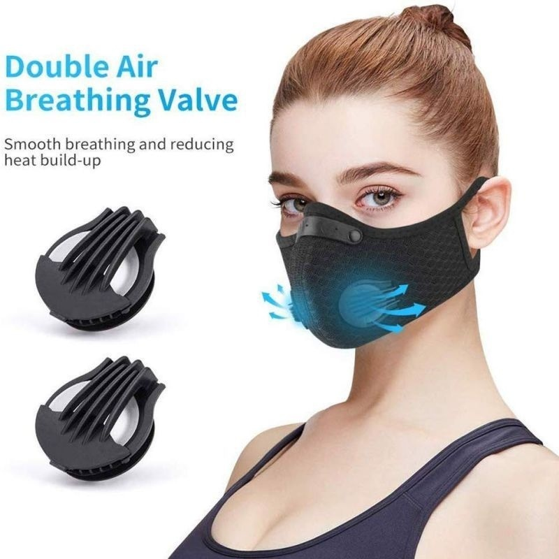 Breathable MaskActivated Reusable Carbon Filter Windproof Dust-Proof Outdoor Sports  Running Cycling Dust Filter Cycling Face Mask