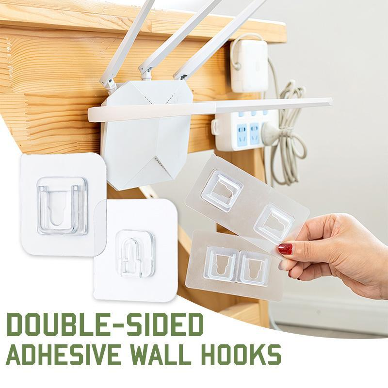 20Pcs Double-sided Adhesive Wall Hooks Home Door Hangging Hooks Accessory UK