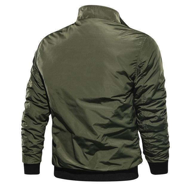 Casual Solid Color Flying Men's Jacket